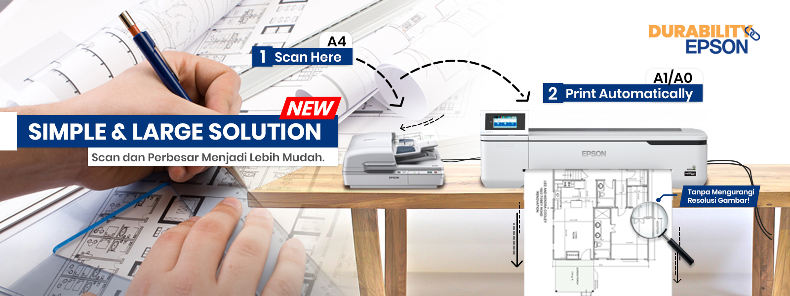 epson technical printer with scanner