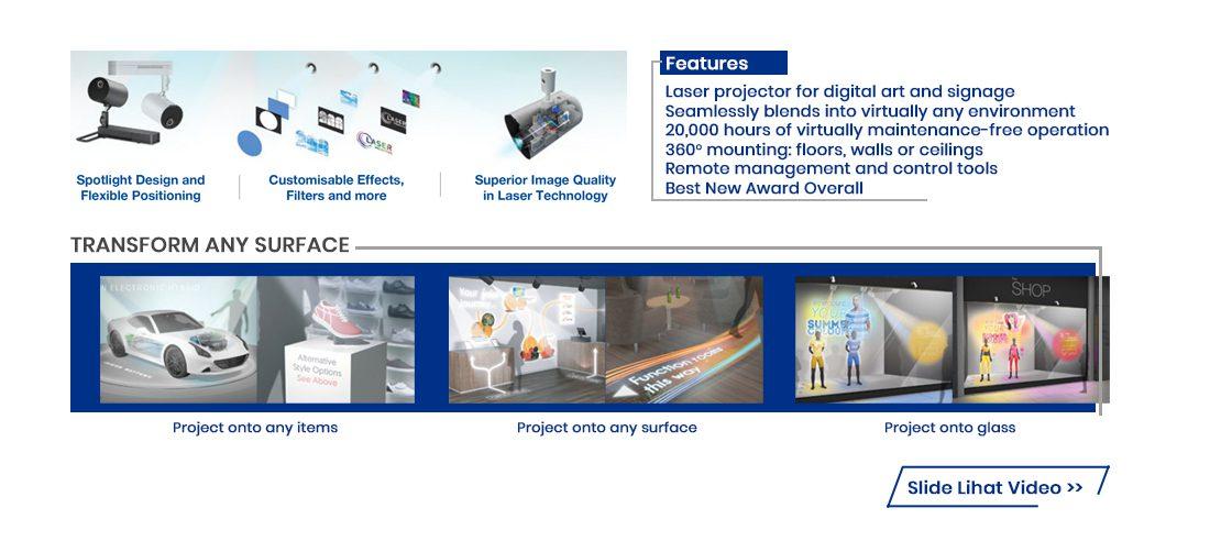 epson ev100 - ev105 lightscene laser projector 2