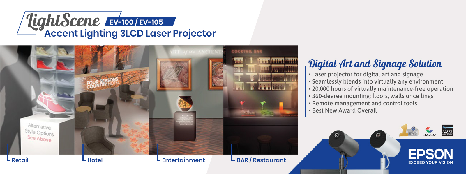 epson lightscene accent lighting 3lcd laser projector