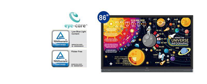 jual interactive flat panel benq rp8601k