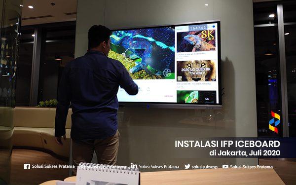 instalasi interactive flat panel iceboard jakarta 2020 1 portofolio