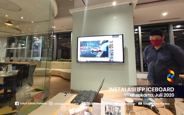 instalasi interactive flat panel iceboard jakarta 2020 3 portofolio