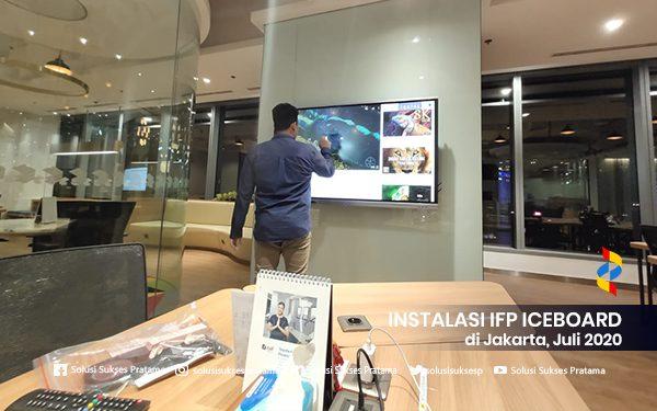 instalasi interactive flat panel iceboard jakarta 2020 4 portofolio