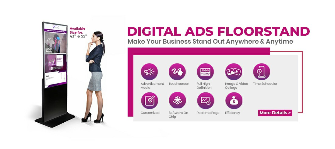 digital ads floorstand