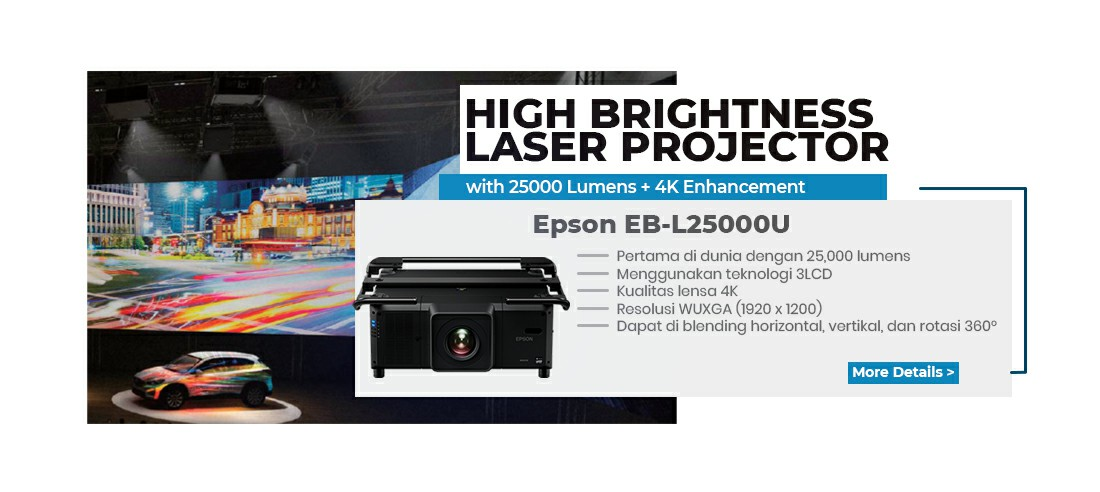 high brightness laser projector l25000u