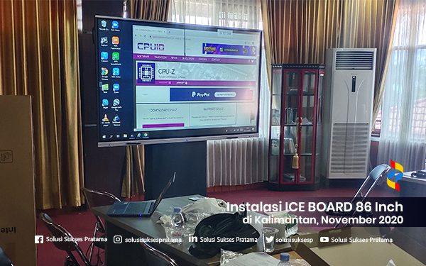 instalasi ice board 86 inch di banjarmasin kalimantan selatan november 2020 1 portofolio