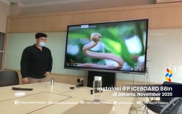 instalasi interactive flat panel ice board 86in di jakarta 2020 1 portofolio