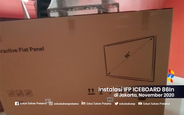 instalasi interactive flat panel ice board 86in di jakarta 2020 2 portofolio