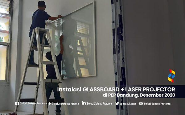 instalasi glassboard + laser projector di bandung 2020 3 portofolio