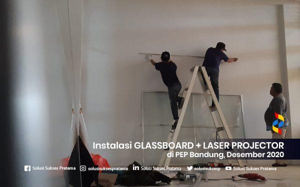instalasi glassboard + laser projector di bandung 2020 4 portofolio