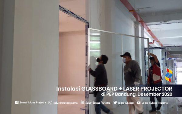 instalasi glassboard + laser projector di bandung 2020 5 portofolio