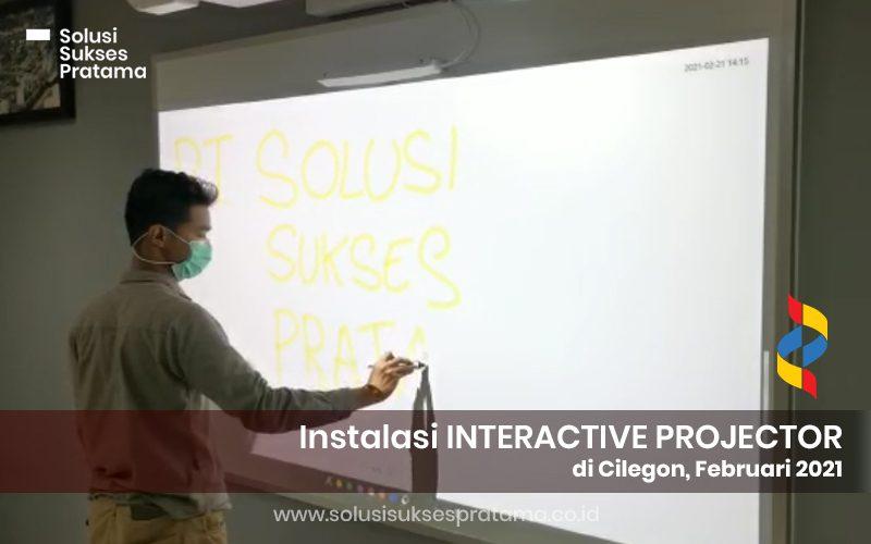 instalasi epson interactive projector eb 1485fi di cilegon 2021 3 portofolio