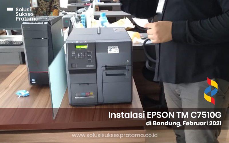 instalasi epson label printer c7510g di bandung 2021 1 portofolio