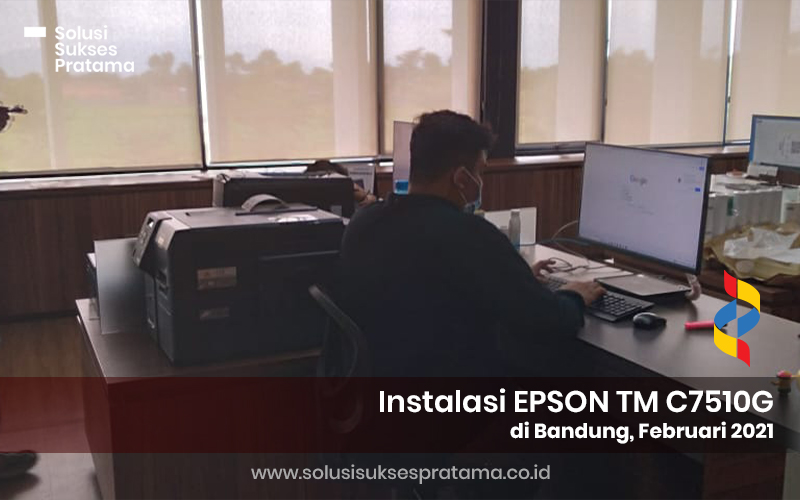 instalasi epson label printer c7510g di bandung 2021 3 portofolio