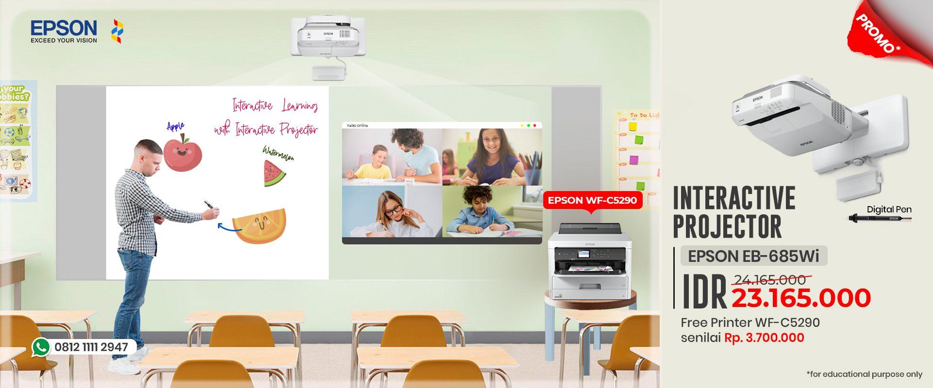 Promo Epson EB-1485Fi gratis Zoom