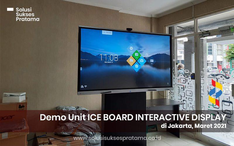 demo unit ice board interactive display di jakarta 2021 1 portofolio