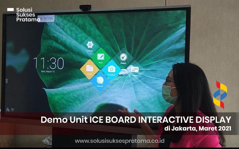 demo unit ice board interactive display di jakarta 2021 2 portofolio
