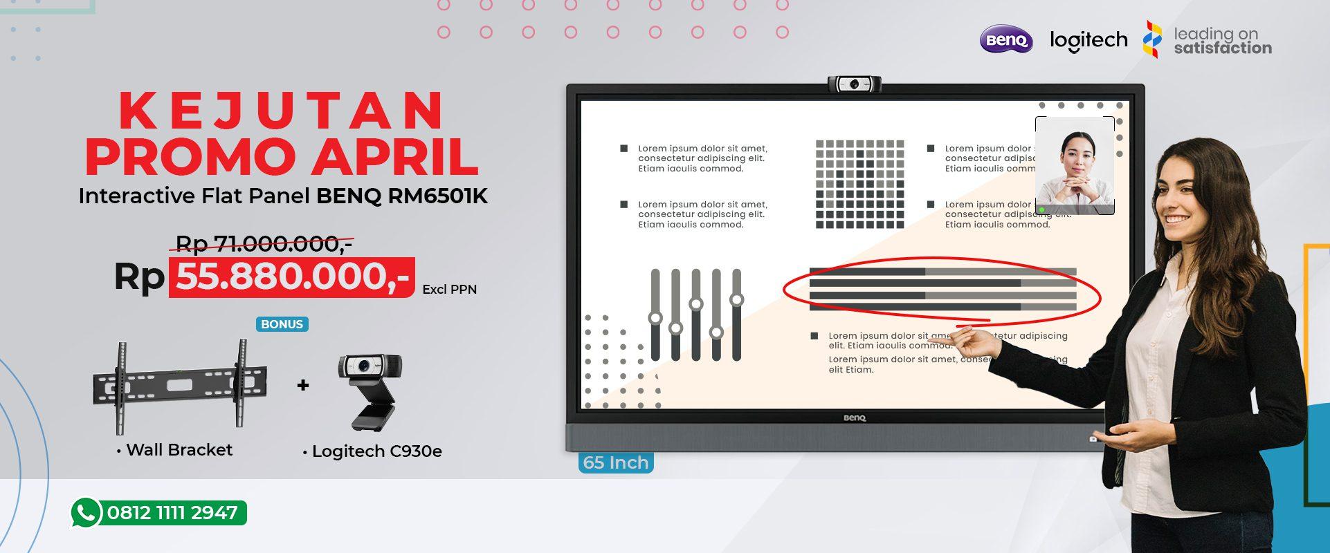 Promo BenQ IFP bonus Logitech C930e - SSP