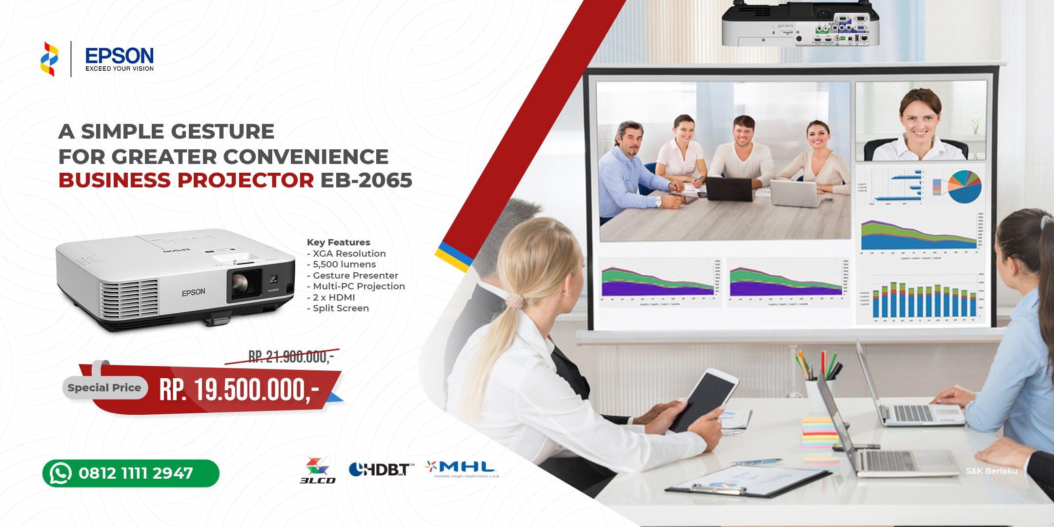 Promo Juli - Projector EB-2065